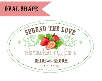Personalized Jam or Jelly Designs - Oval Shape / DIGITAL FILE