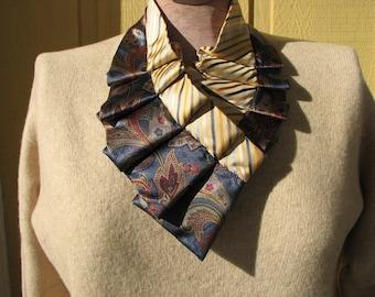 Silk Necktie Necklace - Repurposed Silk Necktie Accessorie - Silk Scarf - Necktie Scarf - Women's Necktie