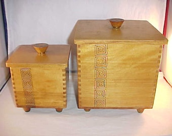 1959 Woodpecker Woodware Covered Boxes