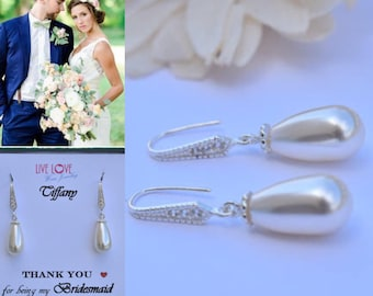 Swarovski Pearls Sterling Silver- (Bridal/Bridesmaid/Made of Honor/Prom/Special Occasion)
