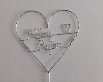 Coeur de gâteau gâteau de mariage, de petite taille, personnalisé