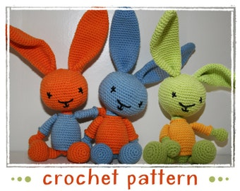 Bunny - Rabbit - Crochet Pattern - PDF file - Amigurumi