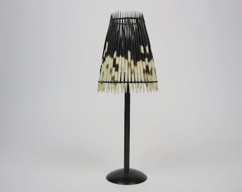 African Porcupine Quill Lamp