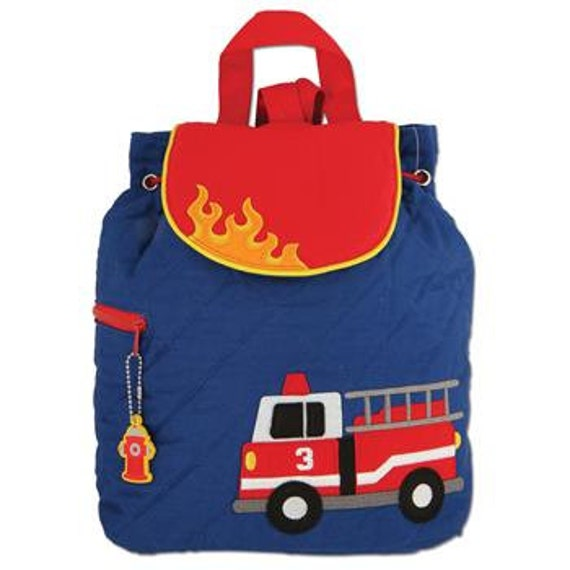 FIRETRUCK Quilted Backpack by Stephen Joseph