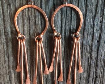 Copper Dangle Earrings
