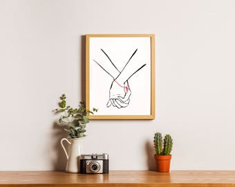 Tied By Destiny (Valentine's Day) Digital Printable Wall Décor