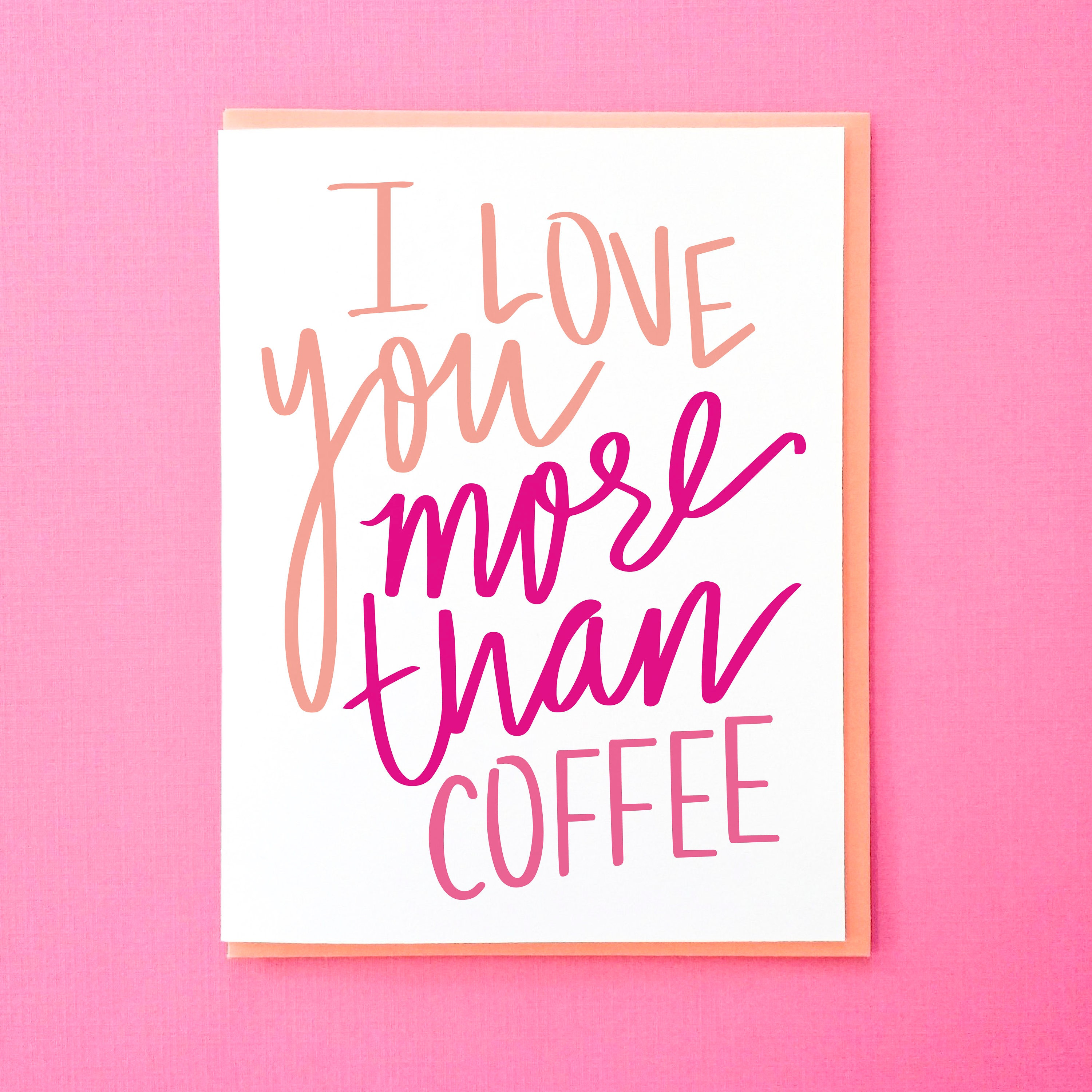 Coffee Card Funny Love You Card Mothers Day Card From