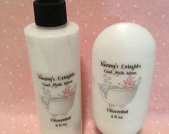 Homemade Goat Milk and Honey Lotion - Unscented