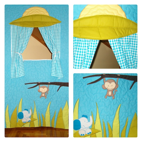 Doorway Puppet Theater, Toddler Gift, Puppet Show Theater, Handmade Curtain for Toddler, Waldorf Style