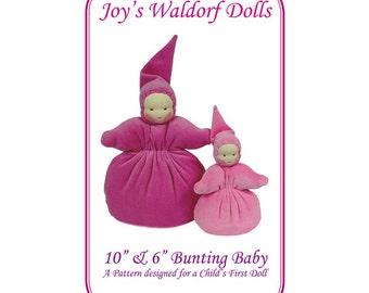 "10"" and 6"" Bunting Baby Pattern - Joy's Waldorf Dolls"