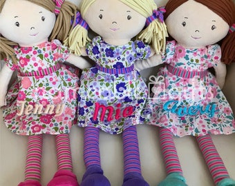 Personalized baby etsy personalized dolls personalized baby gift birthday girl gift soft dolls newbaby girl gifts 1st birthday gifts baby gifts negle Choice Image