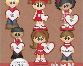 On sale 50% off Valentine Kids Clipart