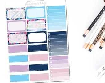 Cosmos - Half Boxes | Planner Stickers