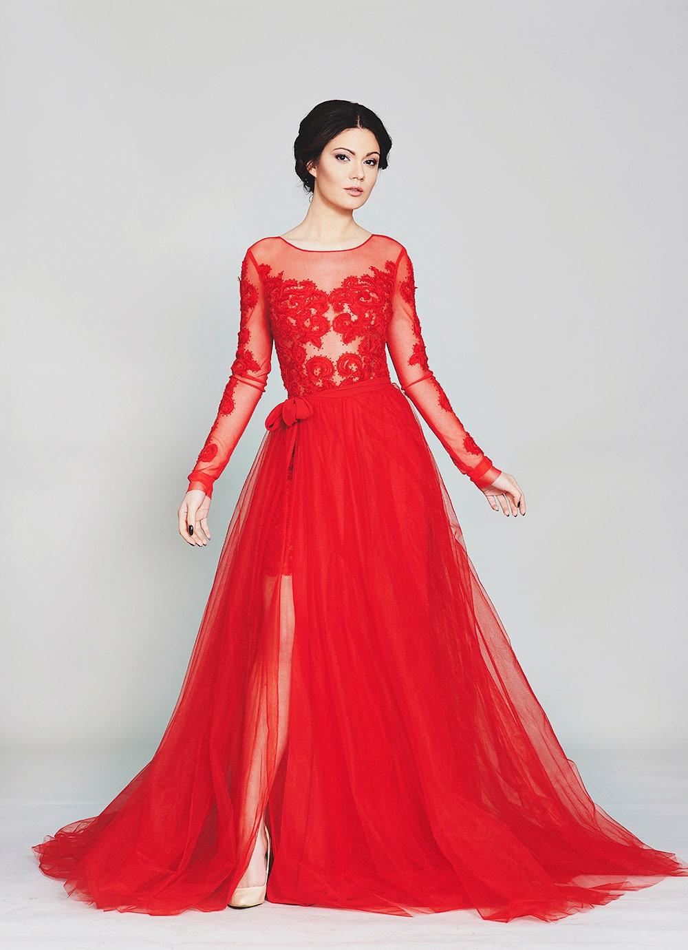 Roten Kleid elegante chiffon-Kleid Mutter der Brautkleid