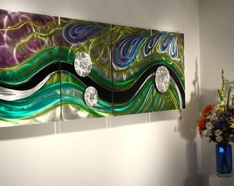 Wilmos Kovacs Original Art Metal Wall Sculpture Abstract Decor Painting - W248