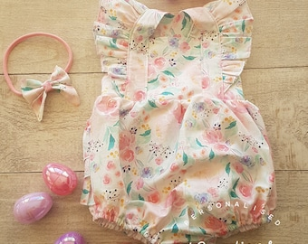 Floral Frilly Romper Size 0