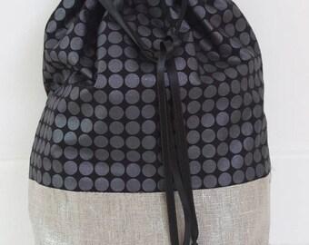 Silver Black laundry bag