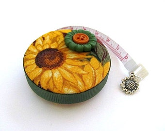 Measuring Tape Giant Sunflowers Retractable Pocket Tape Measure