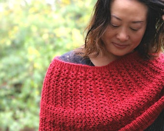 Fall's lover -- cowl / shoulder warmer / wrap Knitting pattern