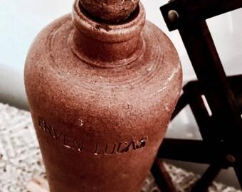 Stoneware bottle| Vintage bottle | Liquor bottle | Erven Lucas bottle