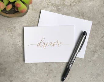 Dream Greeting Card Set - Dream - Believe - Inspire - Motivational Card Set