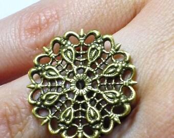bronze 1 ring adjustable 17mm