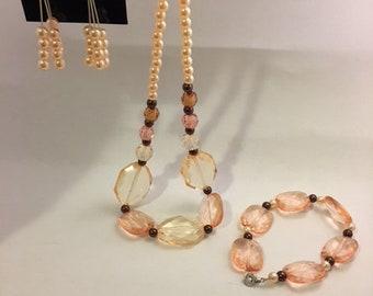 Peachy pink Jewelry set
