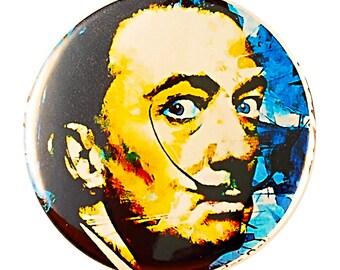 Salvador Dali Pin - pinback button by Mark Lewis Art - am
