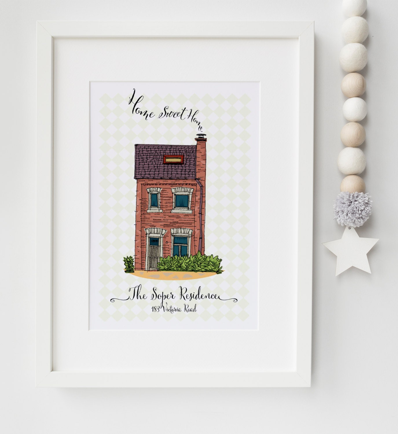 Personalised New Home/House Warming Picture Print Moving In Gift ...
