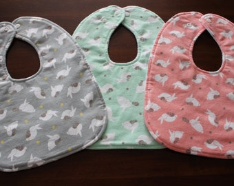 Easter Bunny baby bib, bib, washcloth, wipe, boy, girl, unisex