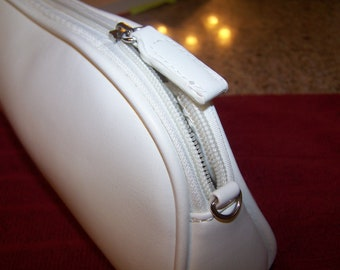 White Purse with Removable Strap --  Never Used