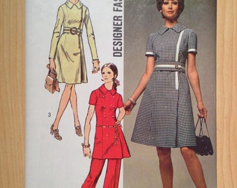 Simplicity Sewing Pattern 9011 Misses Dress or Tunic and Pants Size 16