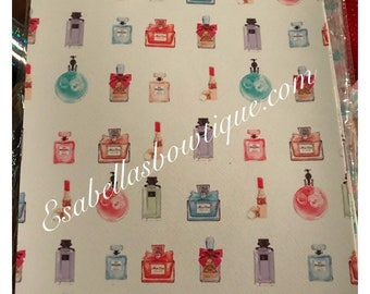 Perfum Faux Leather ; Vinyl Fabric ;Headband Bow Leather Sheets ;girly Vinyl ;Vegan Leather;Bow Making Supply