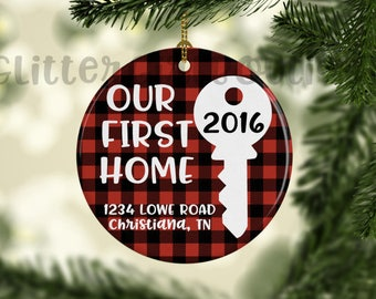 Our First Home Ornament, Custom Ornament, Personalized Ornament, Home Ornament, Porcelain Ornament, Ornament | Ornament for HomeOwners
