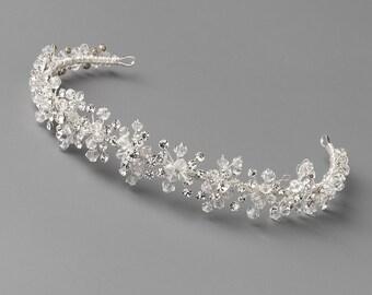 Crystal Wedding Headband, Rhinestone Bridal Headband, Crystal Headband, Jeweled Headband, Bride Headband, Bridal Hair Accessory ~TI-3103