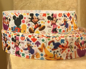 5 YDS Mickey Mouse Mouse Clubhouse Ribbon