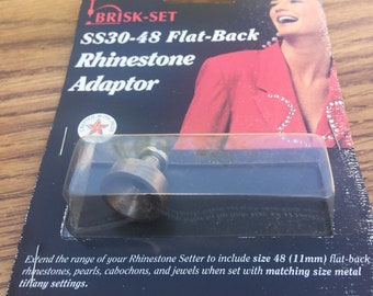 Metal Findings. NOS.Brisk-Set Adaptor. SS-30 to SS-48 Flat back Rhinestone Adaptor. Sold by Piece.