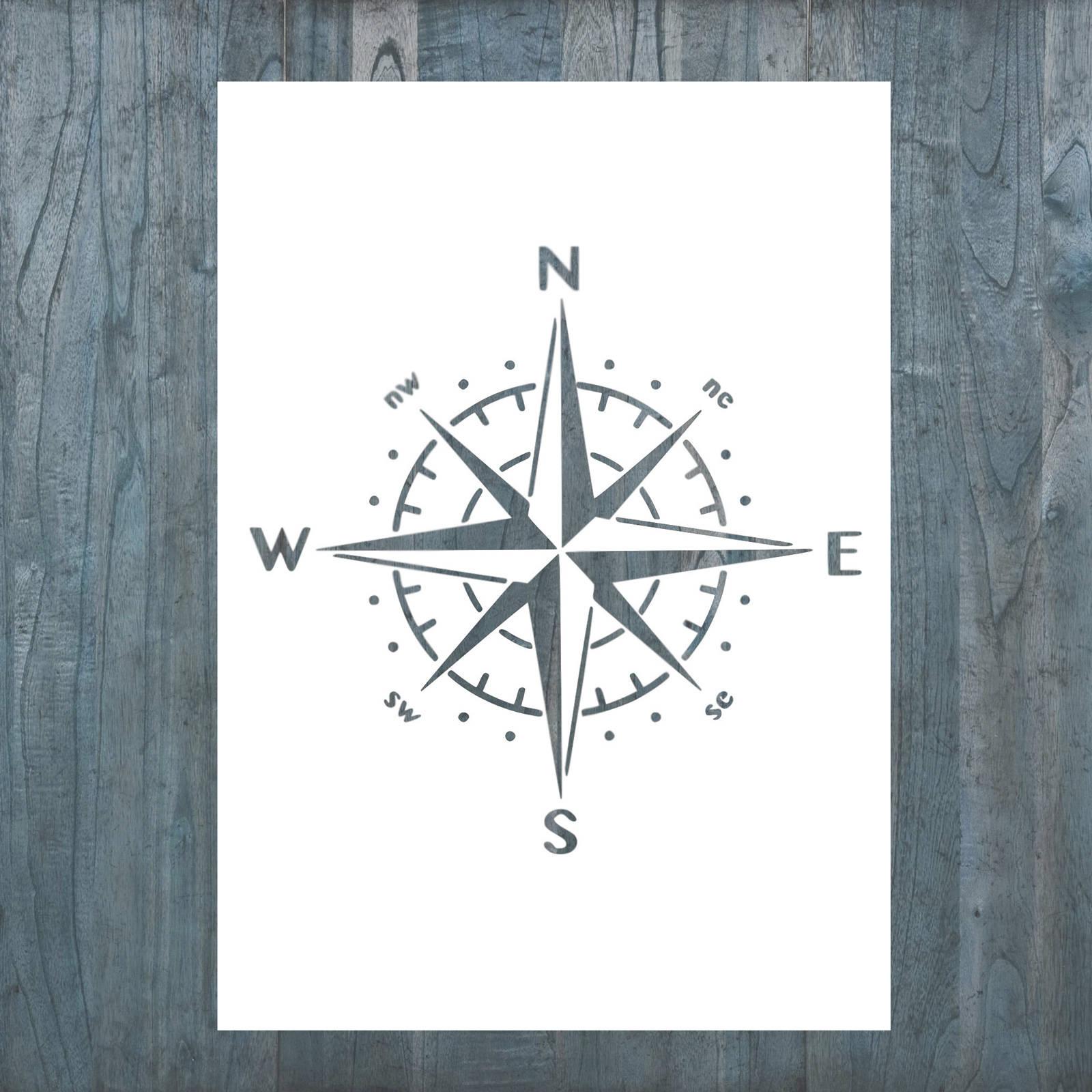 Kompass Rose Wand Schablone für Zuhause Einrichtung / Vorlage