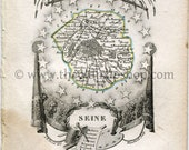 1823 Perrot Map of SEINE,...