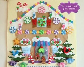 Gingerbread House Advent Calendar Pattern • 24 Ornaments • PATTERN • Instant Digital Dow