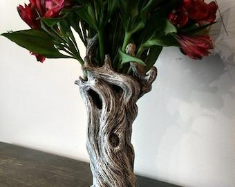 Tree Vase, White Finish