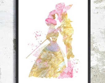 Woody and Bo Peep print Toy story Watercolor Art Print Toy story Illustration Baby Nursery Toy story poster Woody print Kid birthday gift