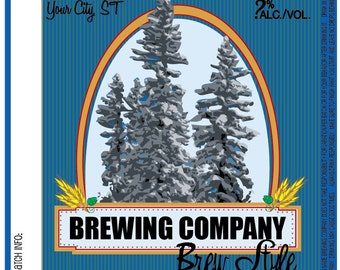 Home Brew Customized Beer Label - Winter Wonderland