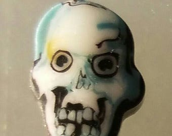 Glass murrini Coe 104 skull