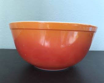 Pyrex Flameglo Mixing Bowl 403 Orange and Red Ombre