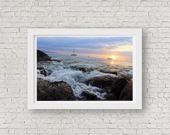 Up close ocean sunset (Print)