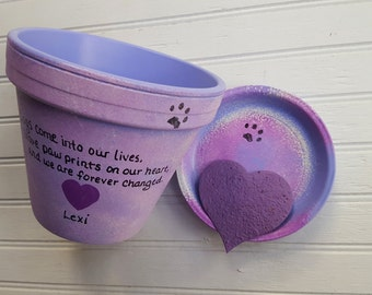 Large Planter - Pet Memorial Planter - Large Flower Pot - Painted Flower Pot - Dog Memorial - Cat Memorial - Extra Large