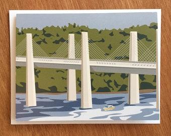 St. Croix River Bridge, Stillwater, Minnesota card