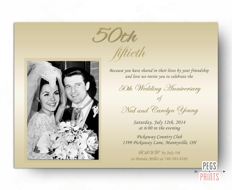 50th Wedding Anniversary Invitations 50th Anniversary