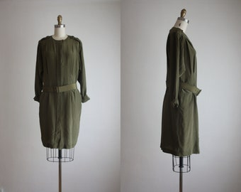 fern silk dress